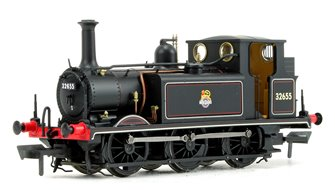 Stroudley Terrier A1X Class BR Lined Black Early Crest 0-6-0 Tank Locomotive No.32655 DCC Ready