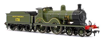Wainwright D Class Southern Lined Maunsell Olive Green 4-4-0 Steam Locomotive No.1730