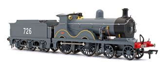 Wainwright D Class SECR Grey (Scraped Beading) 4-4-0 Steam Locomotive No.726