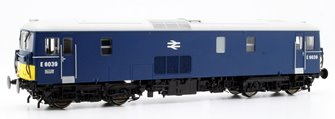 Class 73/1 electro-diesel E6039 in early blue with with small yellow panels and double arrow logo DCC Fitted