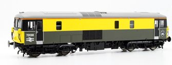 Class 73/1 electro-diesel 73138 in Civil Engineers grey & yellow DCC Fitted