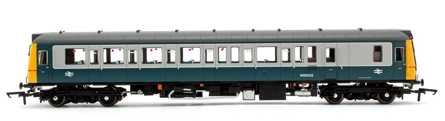 Class 121 Bubble Car BR Blue Grey Welsh Dragon Diesel Locomotive No.55032 - DCC Fitted
