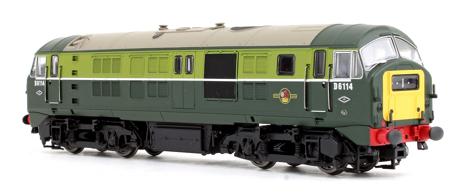 Class 29 D6114 in BR green with small yellow panels - DCC sound fitted