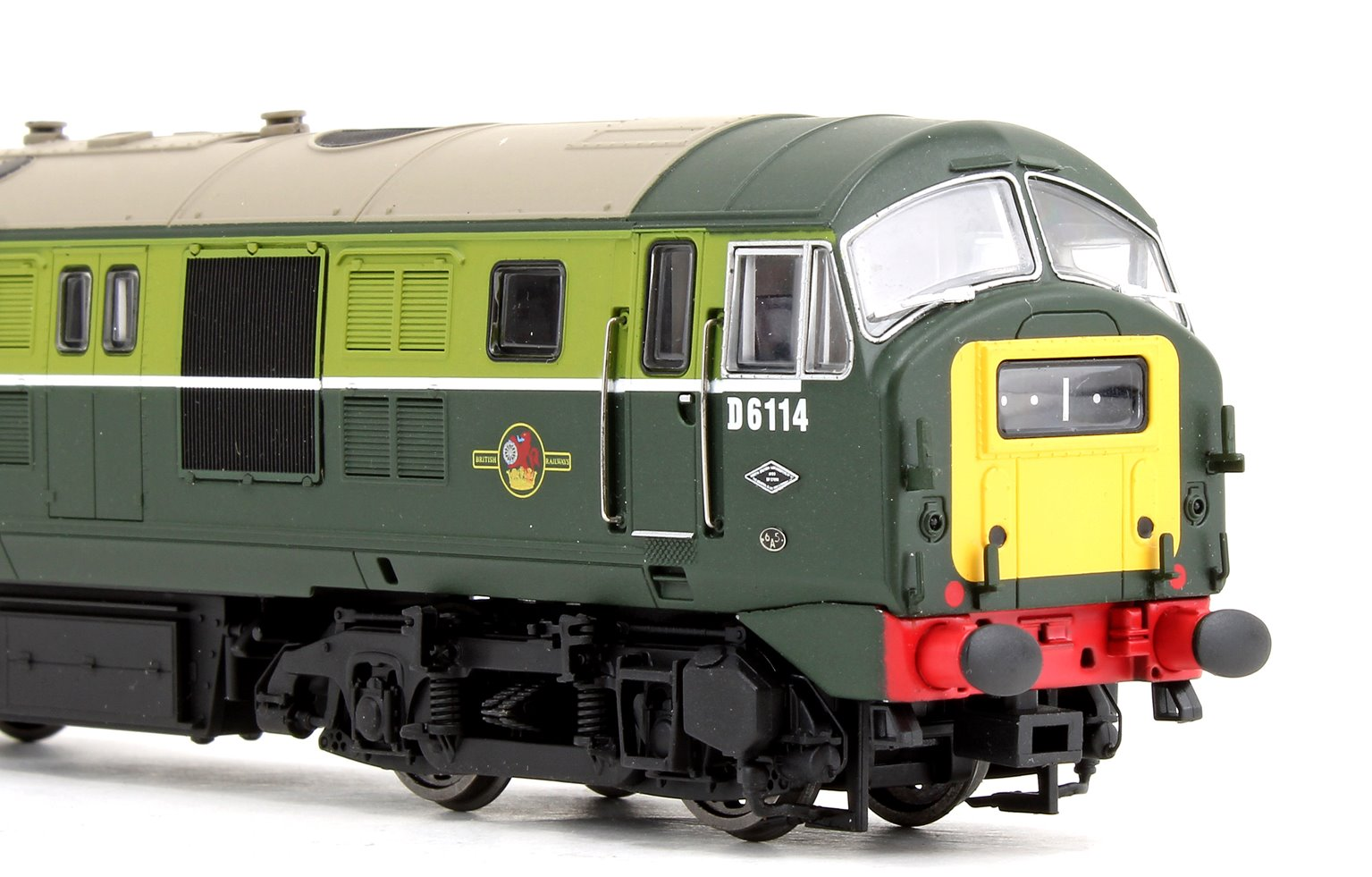 Class 29 #D6114 BR Green Small Yellow Warning Panel