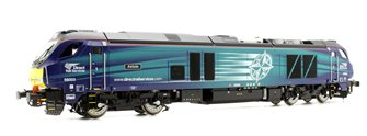 "Class 68 68003 ""Astute"" in Direct Rail Services compass livery early service DCC Fitted"