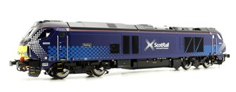 "Class 68 68006 ""Daring"" in Scotrail livery late modified"