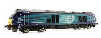 "Class 68 68008 ""Avenger"" in Direct Rail Services compass livery late modified DCC Fitted"