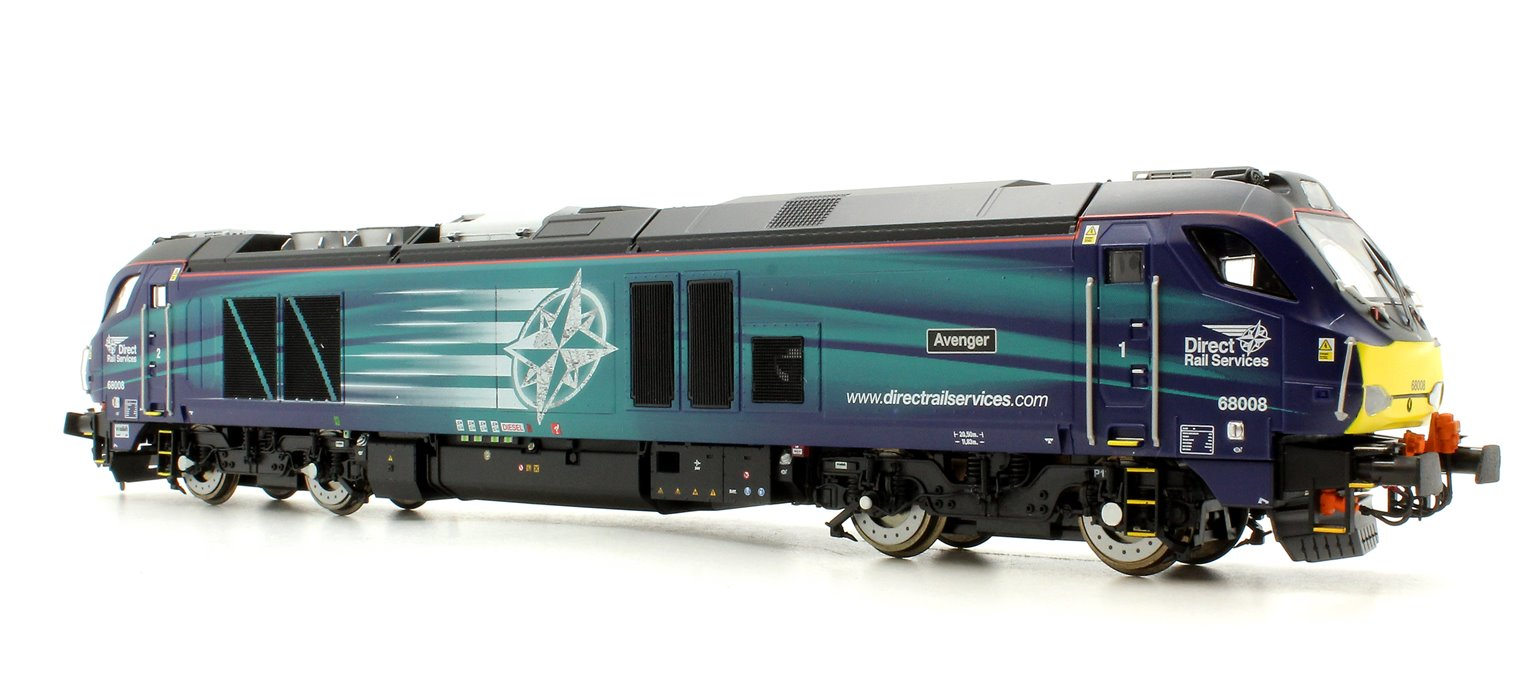 "Class 68 68008 ""Avenger"" in Direct Rail Services compass livery late modified"