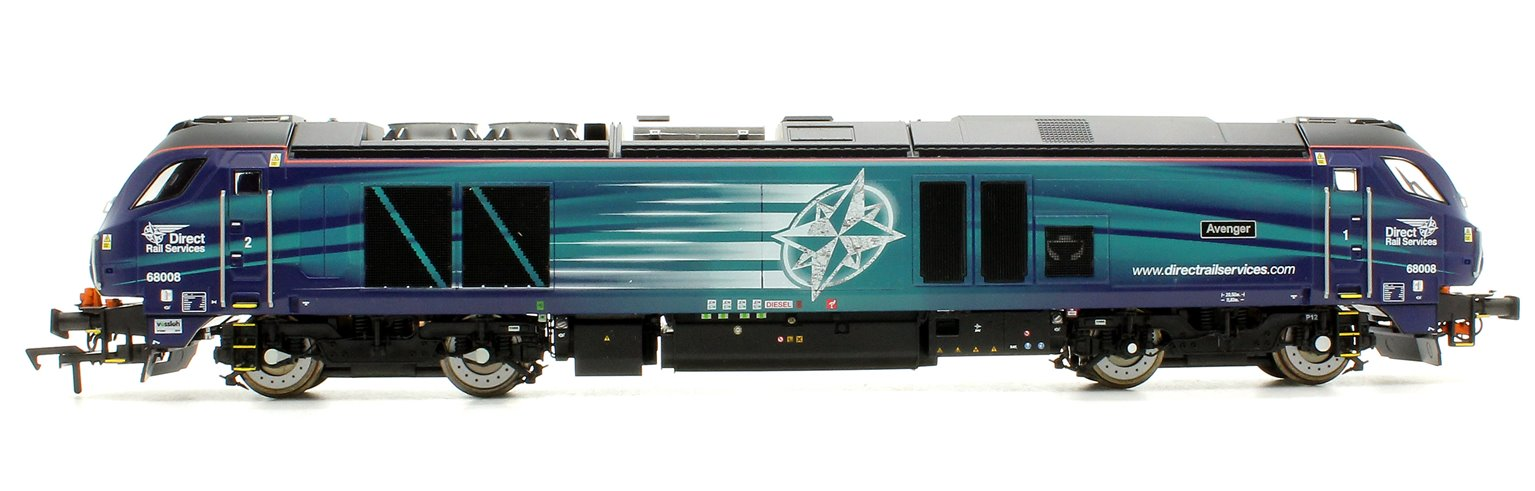 """Class 68 68008 """"Avenger"""" in Direct Rail Services compass livery late modified"""