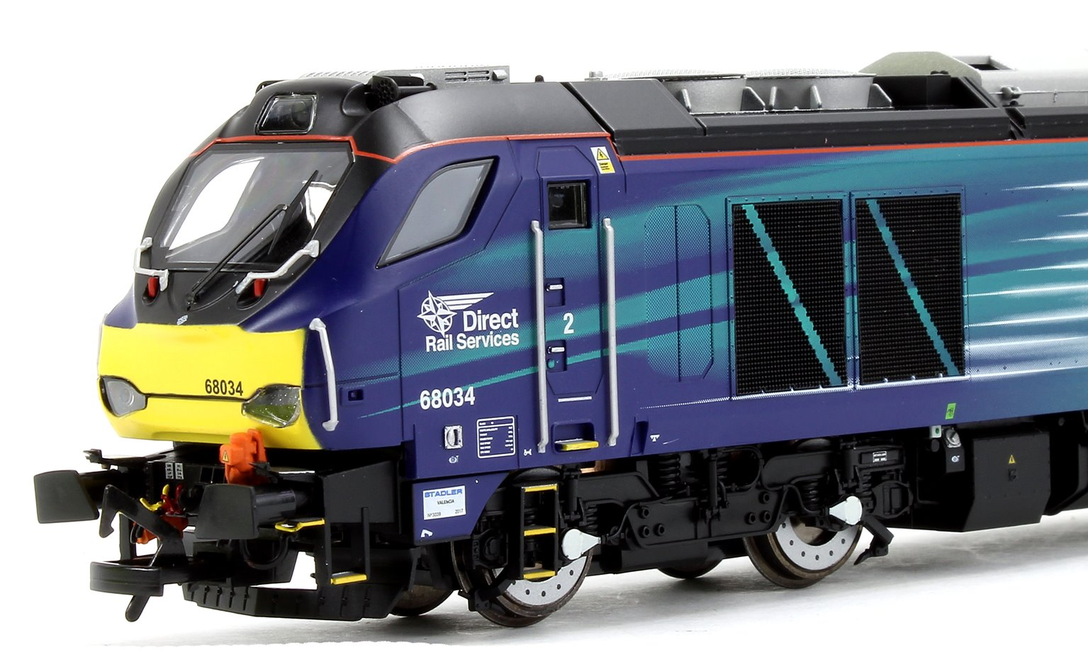 Class 68 034 DRS Compass livery Diesel Locomotive DCC FITTED