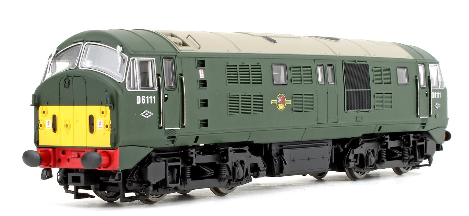 Class 21 D6111 BR Green (Small Yellow Panels) Diesel Locomotives
