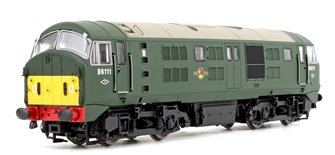 Class 21 D6111 BR Green (Small Yellow Panels) Diesel Locomotives DCC Fitted