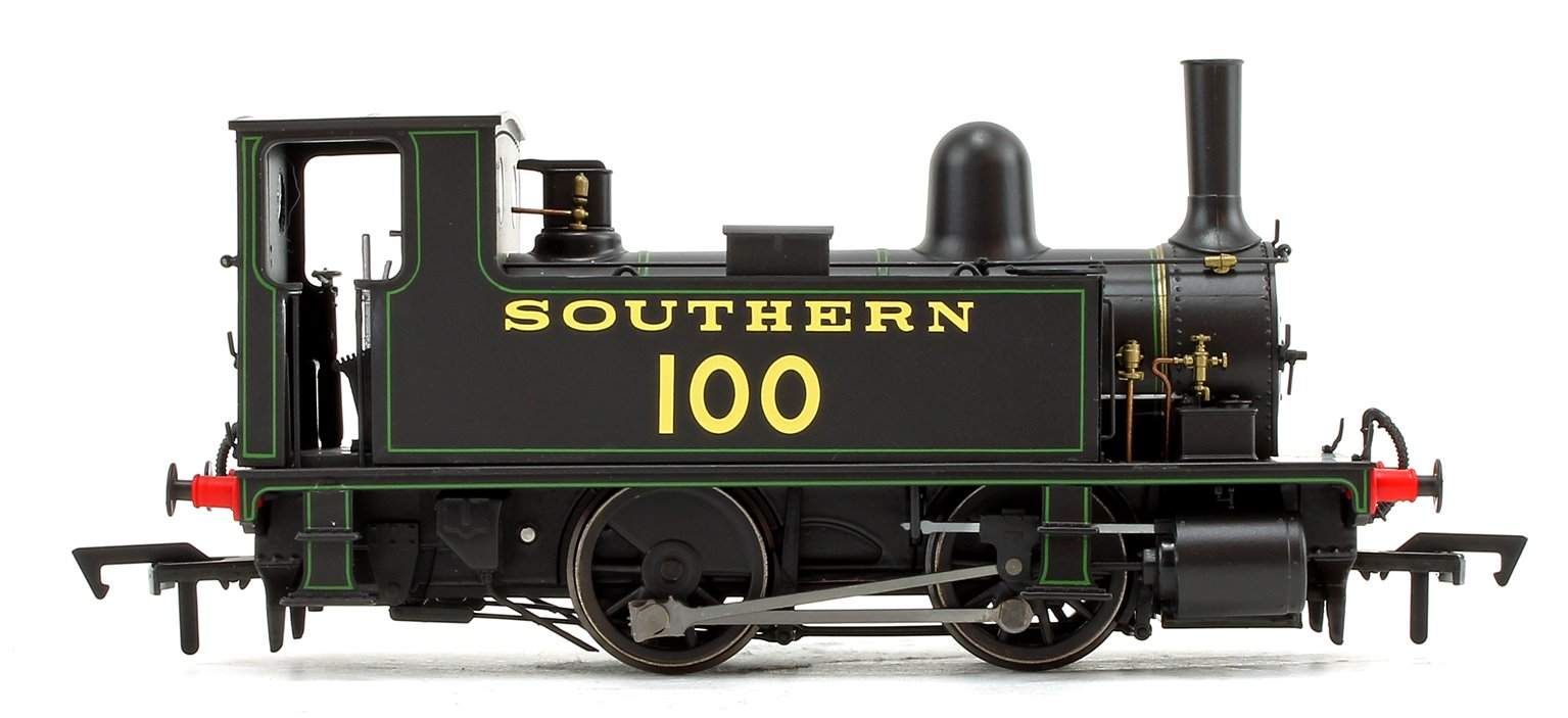 LSWR Class B4 Southern Black (Lined Green) 0-4-0 Tank Locomotive No.100 DCC FITTED