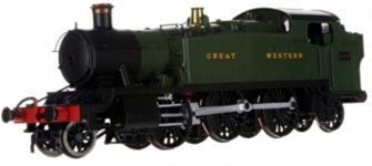Large Prairie 2-6-2 Tank Locomotive #5109 in Green lettered Great Western