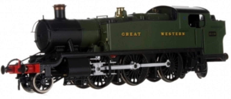 Large Prairie 2-6-2 Tank Locomotive #6129 in Green lettered Great Western