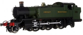 Large Prairie 2-6-2 Tank Locomotive #6129 in Green lettered Great Western