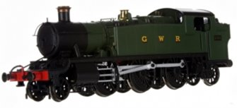 Large Prairie 2-6-2 Tank Locomotive #5150 in Green lettered GWR - DCC Fitted