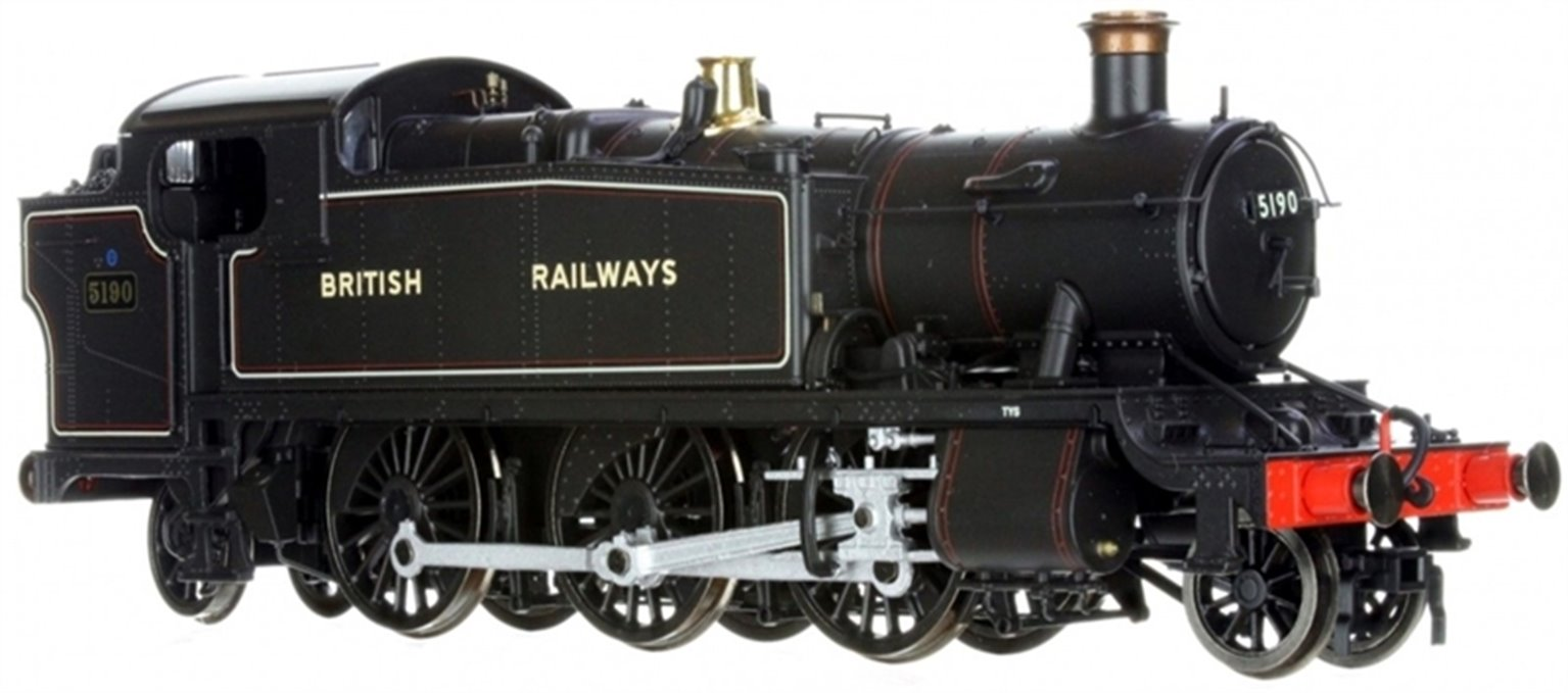 Large Prairie 2-6-2 Tank Locomotive #5190 Lined Black lettered BRITISH RAILWAYS - DCC Sound Fitted