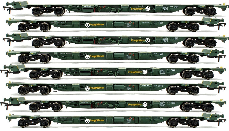 Set of 4 OO Gauge Freightliner FEA-B Spine Wagon Twin Packs