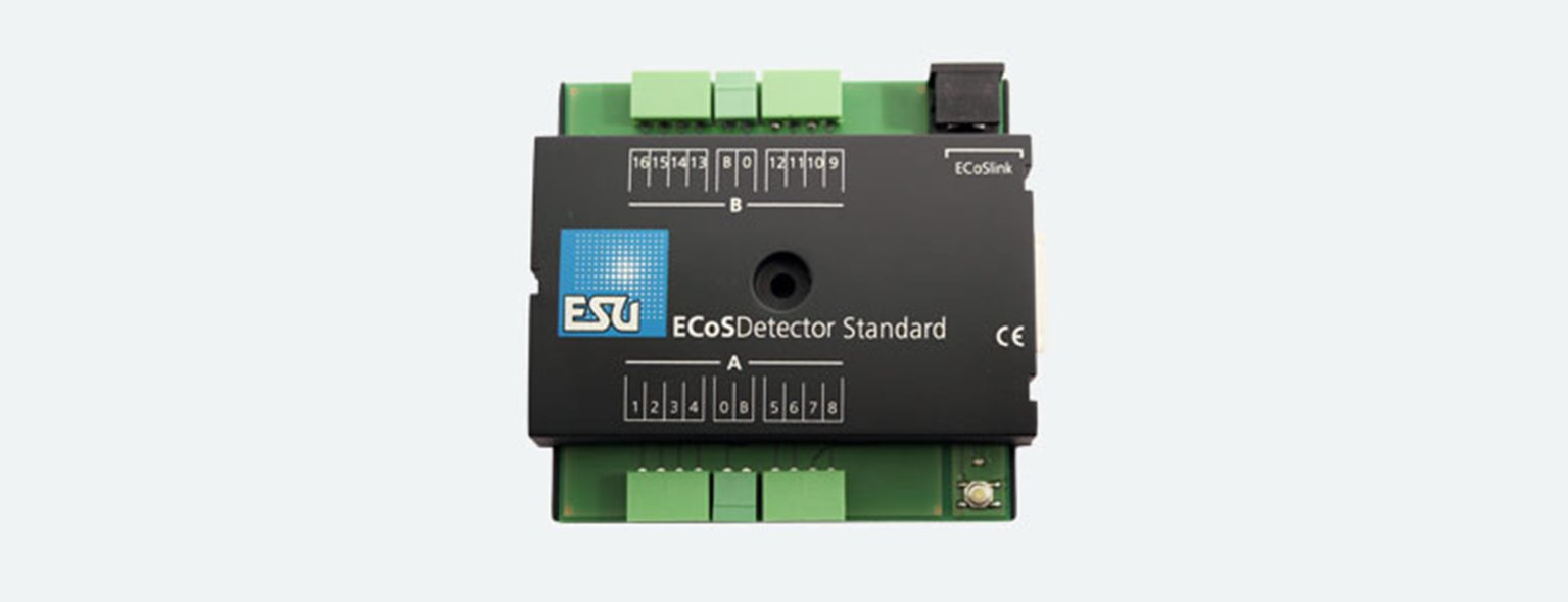 ECoS Detector standard feedback module, 3 rail operation 16 inputs