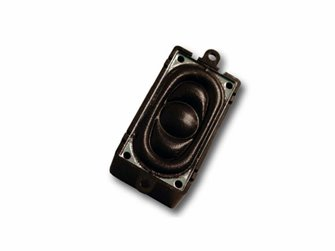 Loudspeaker 20mm x 40mm, rectangle, 4 Ohms with sound chamber - Loksound 4.0/Micro 4.0