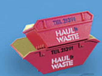 Modelscene 5088H Skips (large & small), 'Haul & Waste'