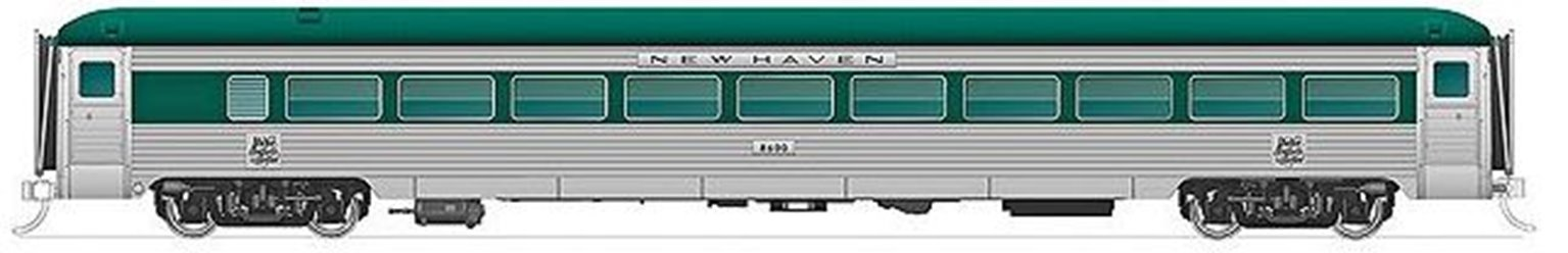 New Haven 8600 Series Coach Penn Central w/o skirts #2522