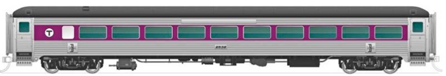 New Haven 8600 Series Coach MBTA w/o skirts #2532