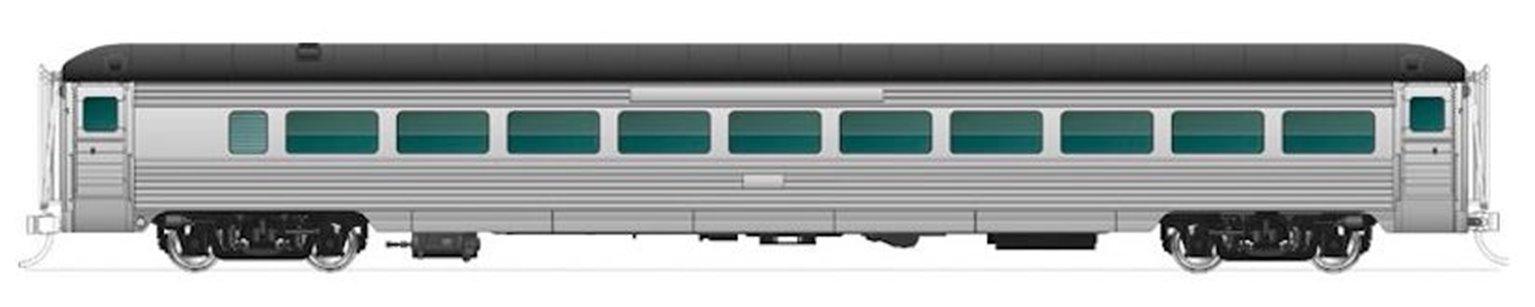 New Haven 8600 Series Coach w/o skirts,  Unlettered