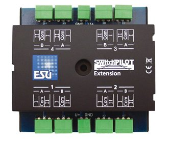 SwitchPilot Extension, 4 twin-relays (DPDT) output, 2A each, extension for Switch Pilot Famil