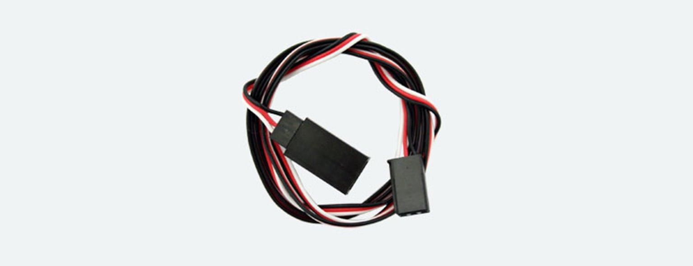 Servo Extension Cable, 3-pole J/R plug on socket J/R / Futaba, Length: 75cm