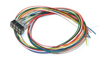 Cable harness 8-pin NEM 652, DCC colour, length 300mm
