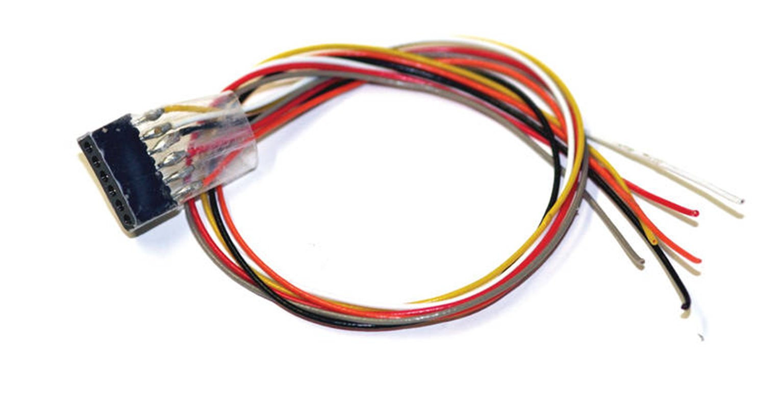 Cable harness 6-pin NEM 651, DCC colour, length 300mm