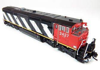 GE Dash 8-40CM Locomotive: Canadian National (Stripes) #2400 (DC Silent)