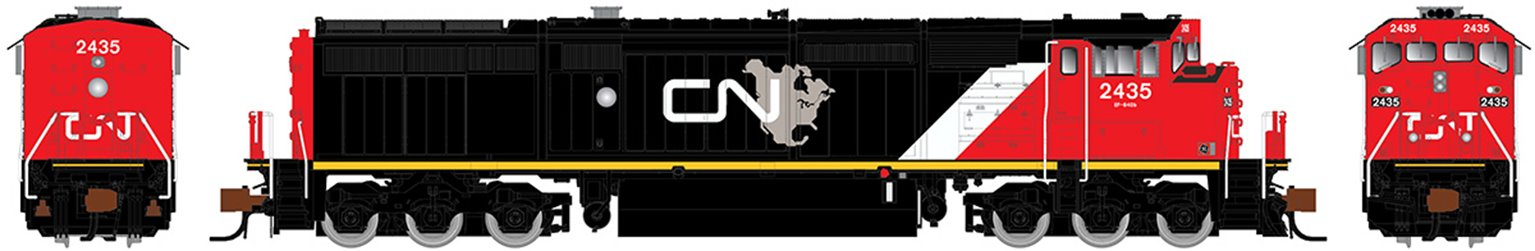 GE Dash 8-40CM Locomotive: Canadian National (North America) #2435 (DC Silent)