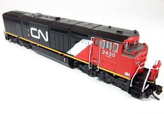 GE Dash 8-40CM Locomotive: Canadian National (No Stripes) #2415 (DC Silent)