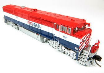 GE Dash 8-40CM Locomotive: British Columbia Railway (As Delivered) #4623 (DCC Sound)