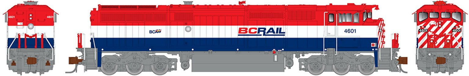 GE Dash 8-40CM Locomotive: British Columbia Railway (As Delivered) #4604 (DC Silent)