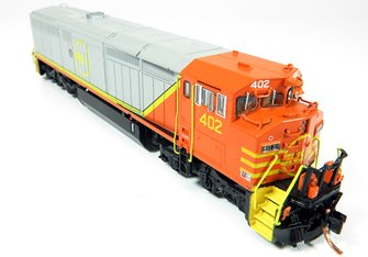 GE Dash 8-40CM Locomotive: Quebec North Shore & Labrador #401 (DC Silent)