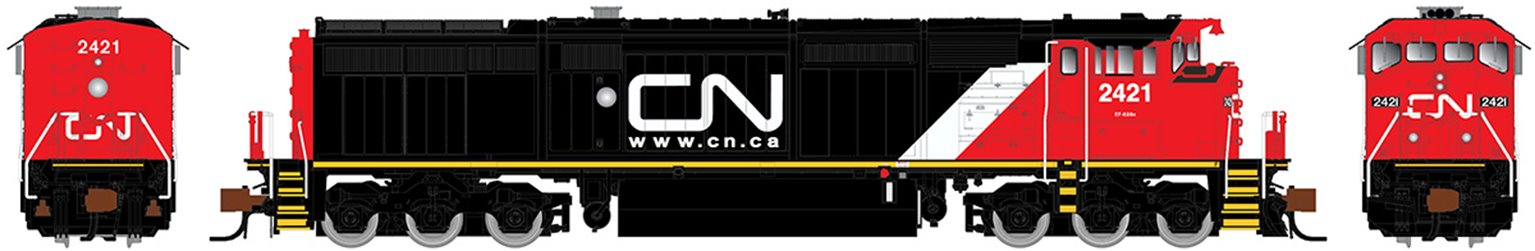 GE Dash 8-40CM Locomotive: Canadian National (Website) #2421 (DCC Sound)