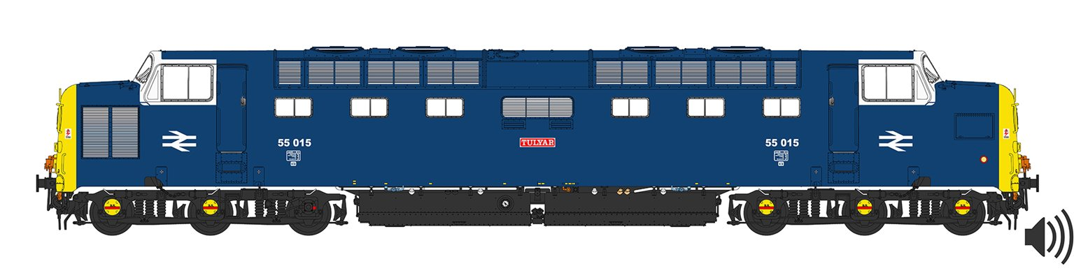 'Tulyar' Class 55 015 Deltic in BR Blue Livery with Finsbury Park White Cab - DCC Sound