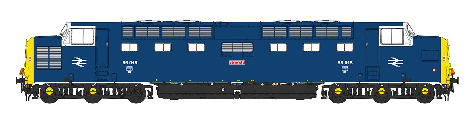 'Tulyar' Class 55 015 Deltic in BR Blue Livery with Finsbury Park White Cab