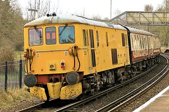 Class 73 212 Network Rail Yellow Diesel Locomotive