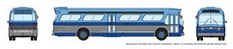 N Gauge New Look Bus - New York (Blue)