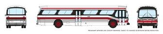 N Gauge New Look Bus  - Toronto (Red/Black)