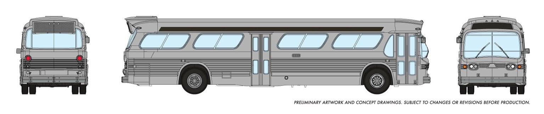 N Gauge New Look Bus - Generic Silver