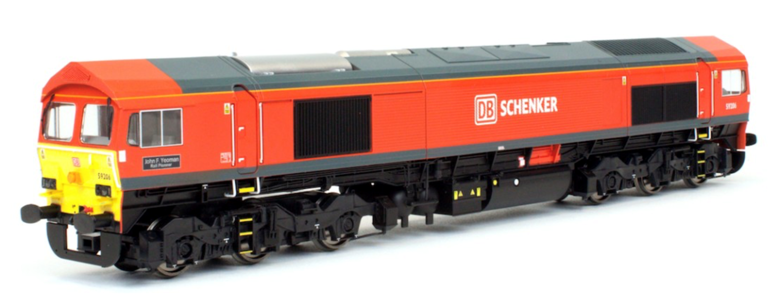 Class 59 206 'John F Yeoman' DB Schenker Diesel Locomotive DCC Fitted