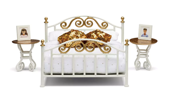 Lundby Doll's House Brass Bed