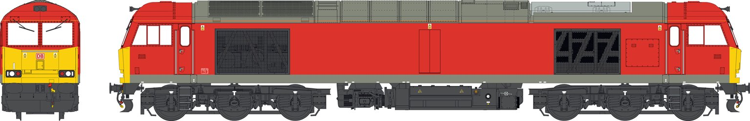 Class 60 DB Traffic Red unbranded/unnumbered