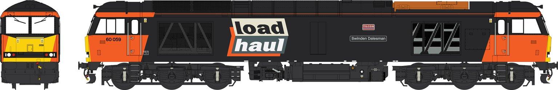 Class 60 Loadhaul black/orange 60059 Swinden Dalesman WEATHERED
